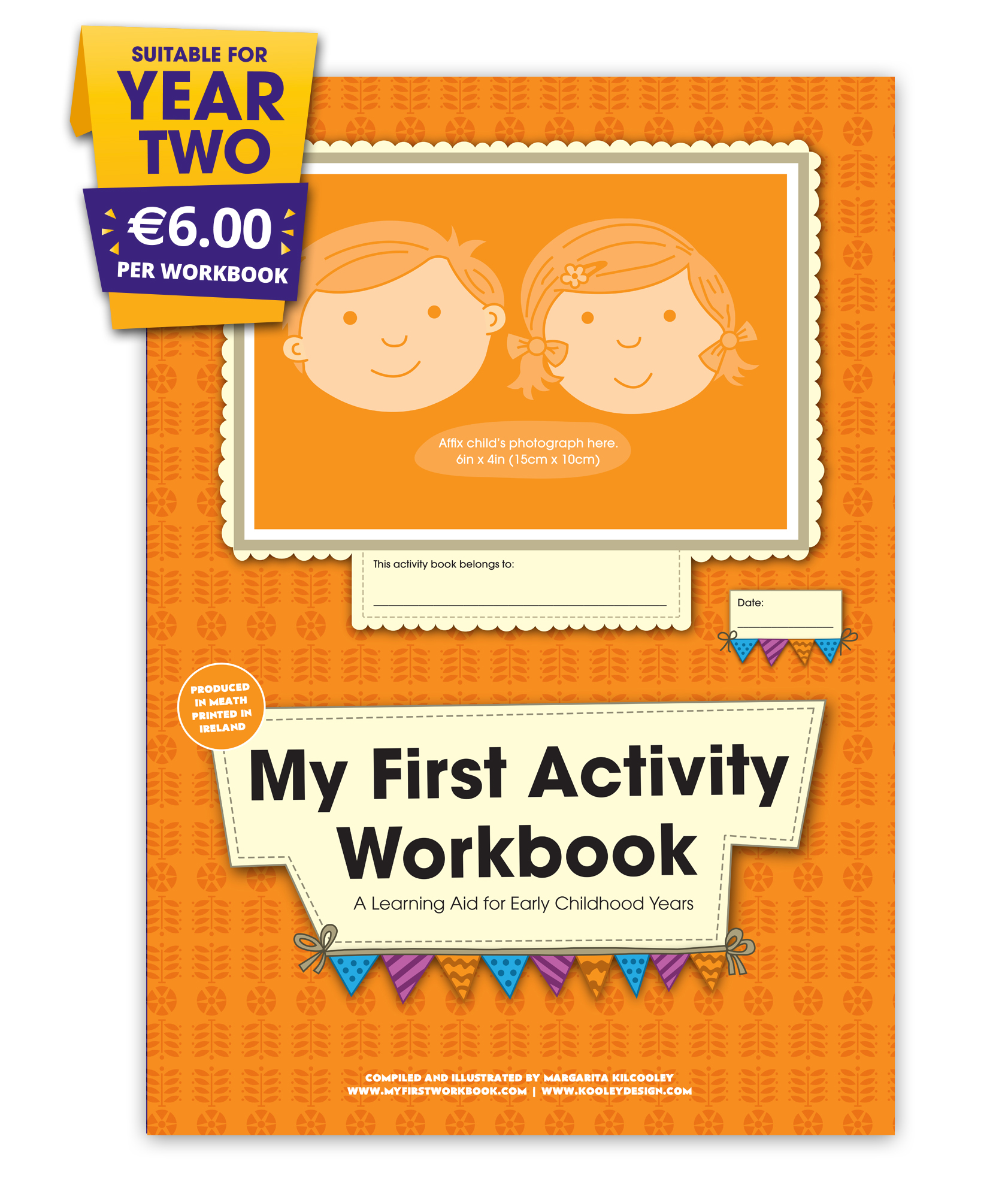 my first activity workbook front cover for preschool & montessori