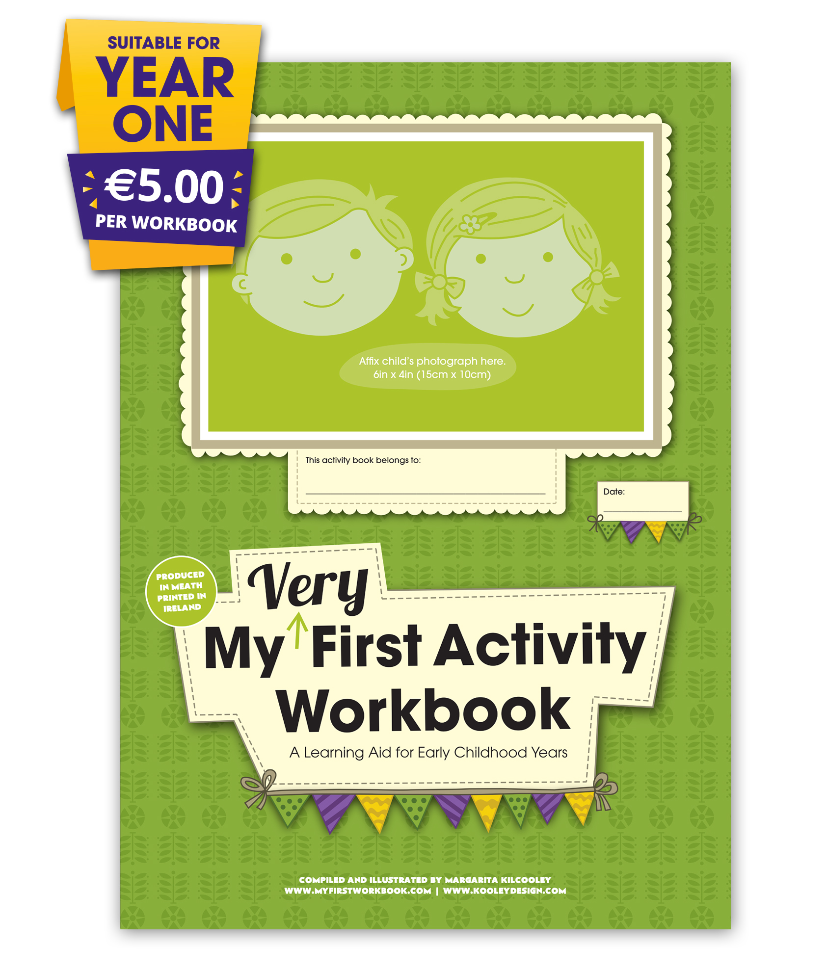 my very first activity workbook front cover for preschool & montessori