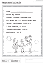 My First Activity Workbook - My name and identity
